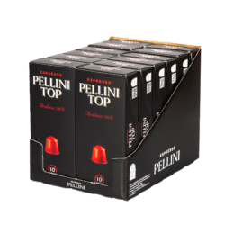 Espresso Pellini Top Arabica 100% in self-protected compostable Nespresso®* compatible capsules. - 12x10 caps