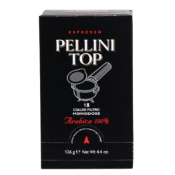 Coffee pods - Espresso Pellini Top Arabica 100% in single use E.S.E. pods