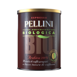 Ground coffee - Pellini Bio Arabica 100% in tin