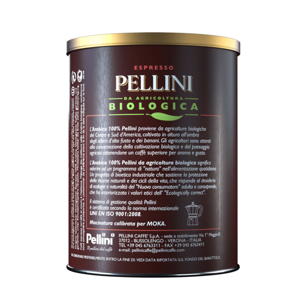 Ground coffee - Pellini Bio Arabica 100% in tin - 2