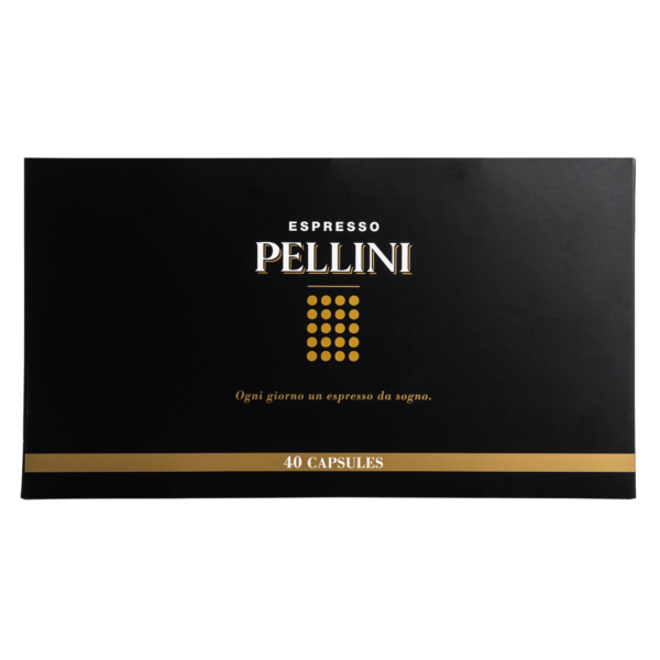 Compatible capsules - Pellini Espresso Gift Box (40 variety pack) in self-protected and compostable Nespresso®* compatible capsules