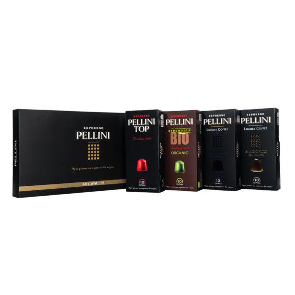 Compatible capsules - Pellini Espresso Gift Box (40 variety pack) in self-protected and compostable Nespresso®* compatible capsules - 3
