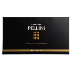 Pellini Espresso Gift Box (40 variety pack) in self-protected and compostable Nespresso®* compatible capsules - Single pack (40 caps)